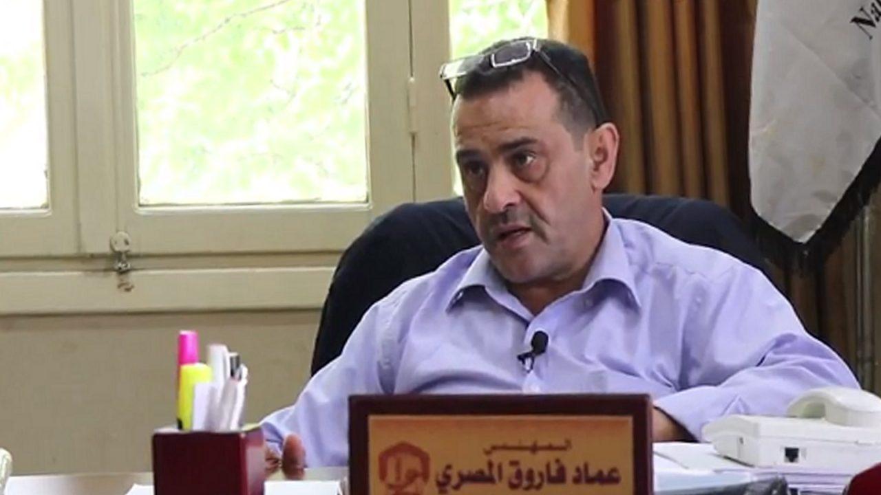 مدير دائرة المياه والصرف الصحي في بلدية نابلس م. عماد المصري
