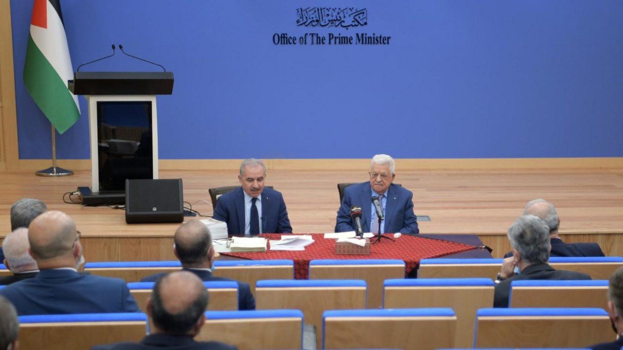 الرئيس يترأس اجتماع مجلس الوزراء. (عدسة: ثائر غنايم)