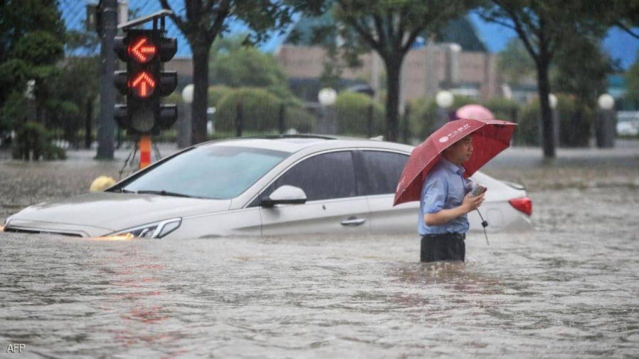 الفيضانات أغرقت تشنغتشو