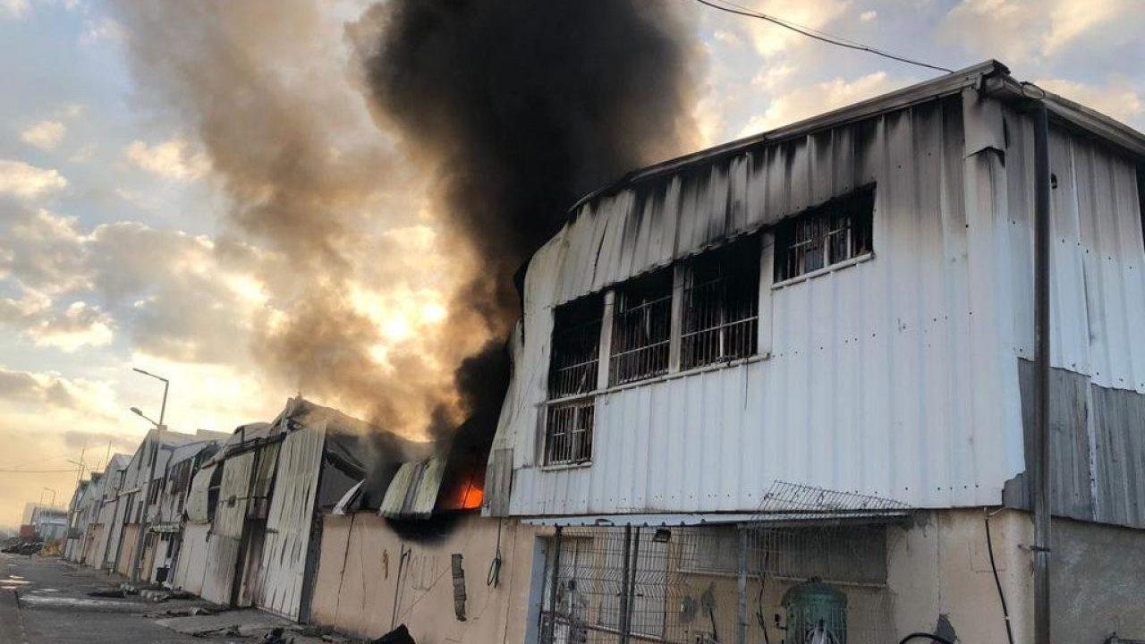 من العدوان الاسرائيلي على مدينة غزة الصناعية