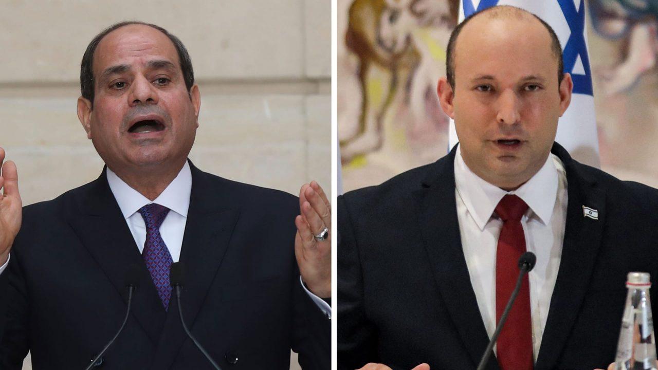 رئيس الوزراء الإسرائيلي نفتالي بينت والرئيس المصري عبد الفتاح السيسي