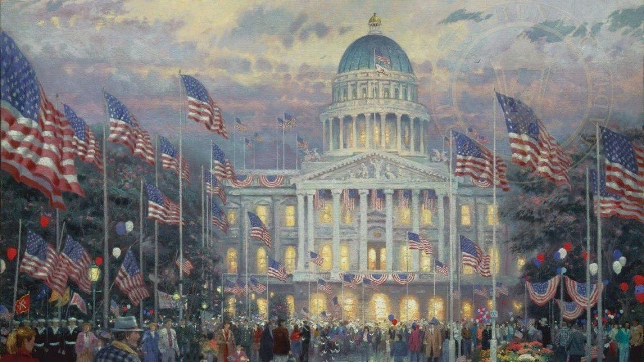 لوحة تجسد مبنى الكابيتول