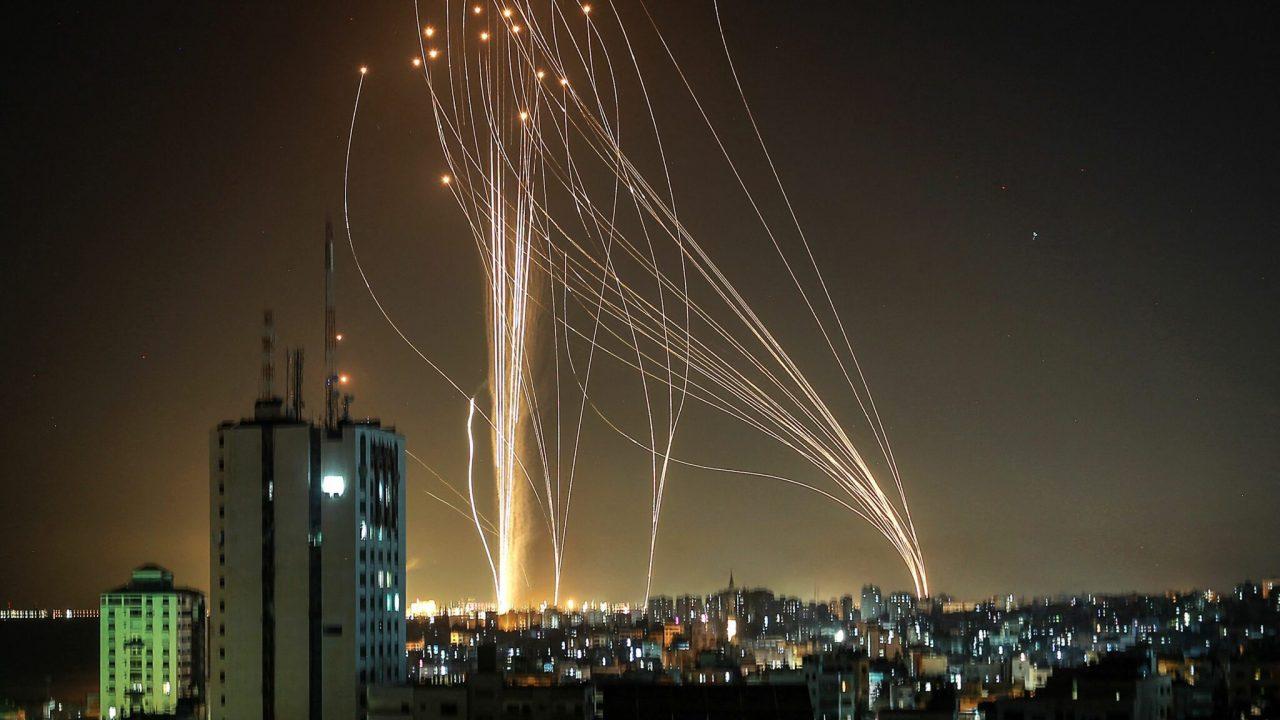 الصواريخ على قطاع غزة