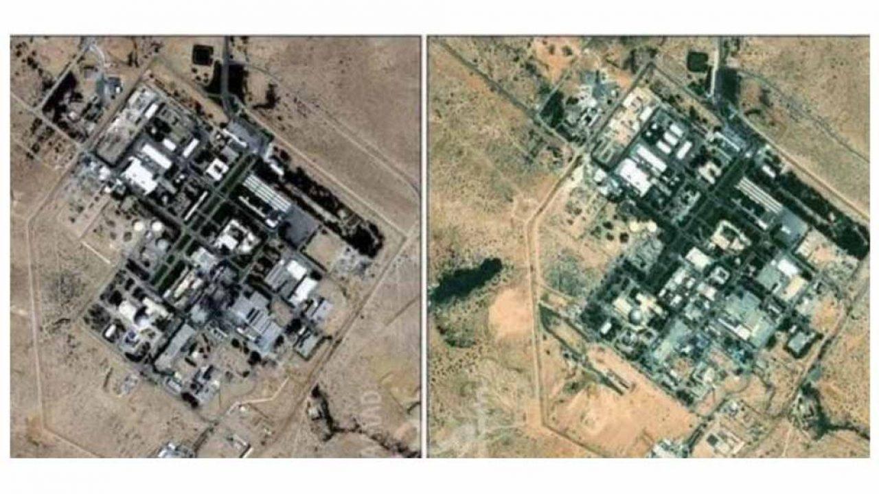 صورة جوية لمركز ديمونة للأبحاث النووية الواقع في صحراء النقب