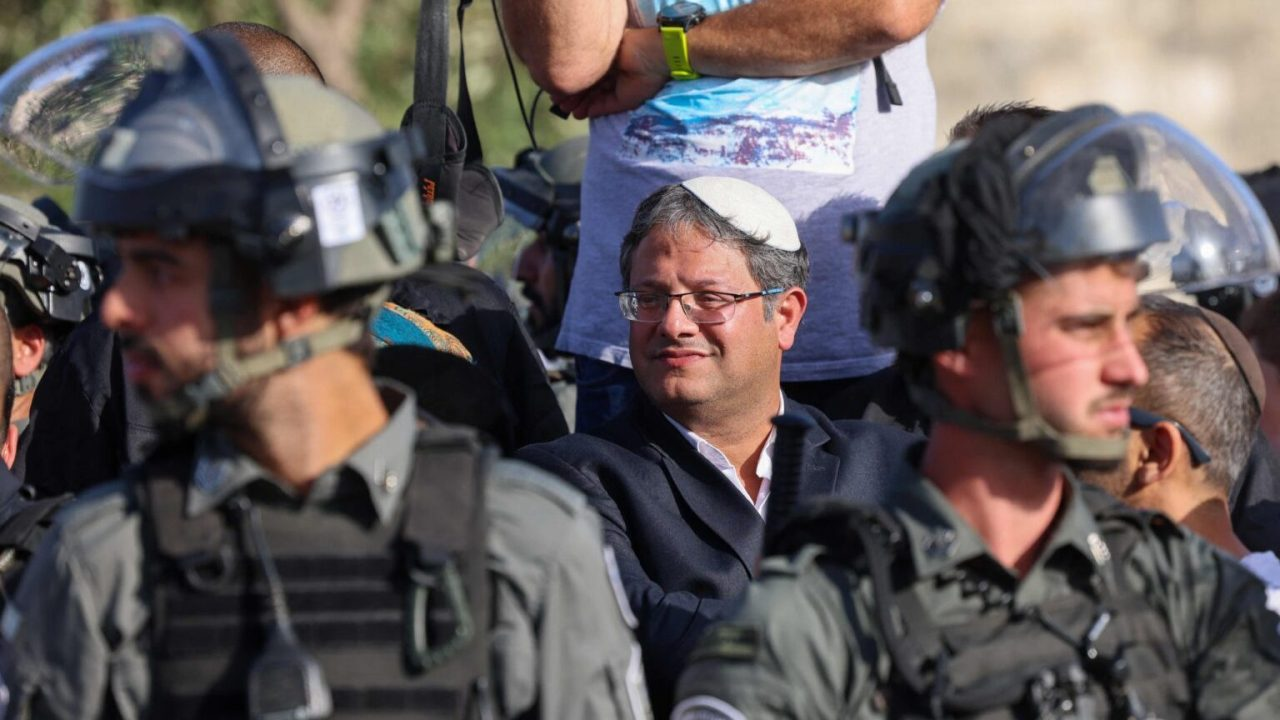Itamar Ben-Gvir, member of Israel's Knesset (parliament) and head of the one-man far right