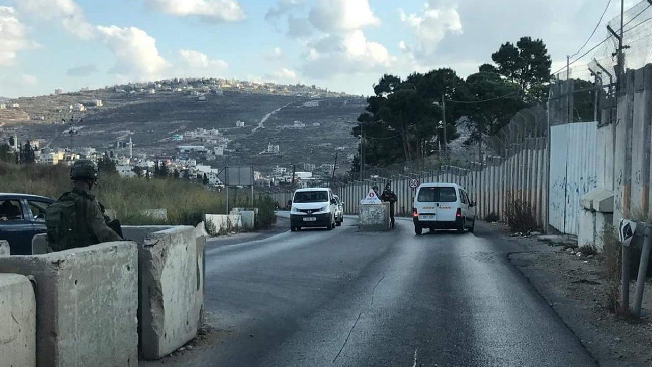 حاجز مستوطنة شافي شمرون غرب نابلس- ارشيفية