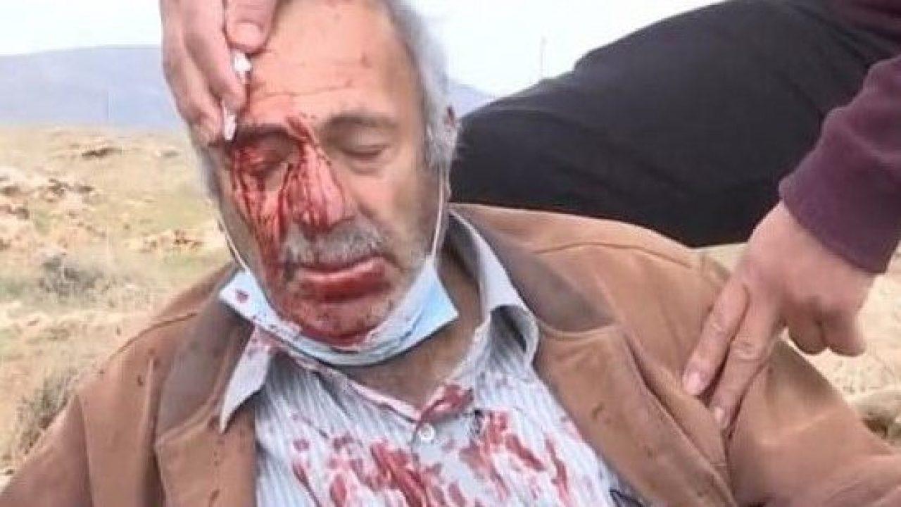 من اعتداء المستوطنين اليوم في خربة الطويل شرق نابلس